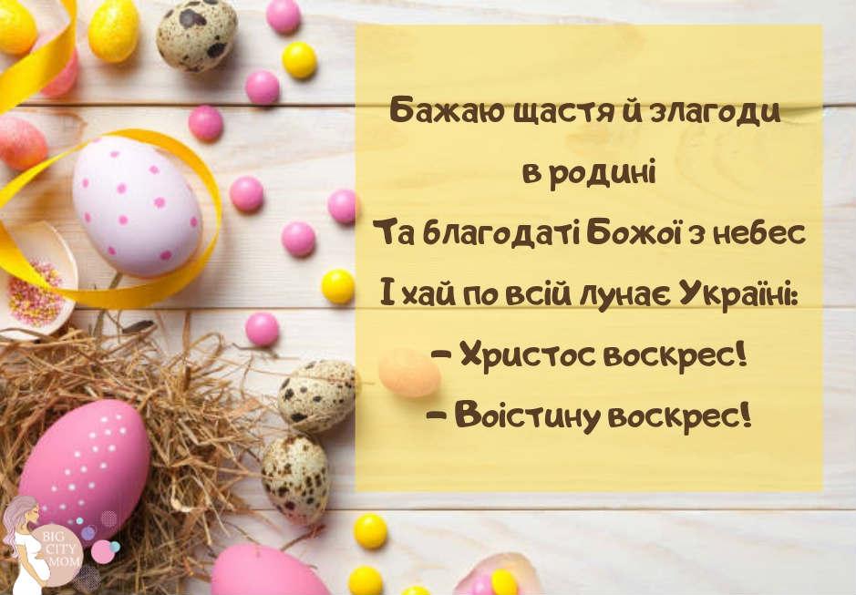 Українські привітання з Великоднем