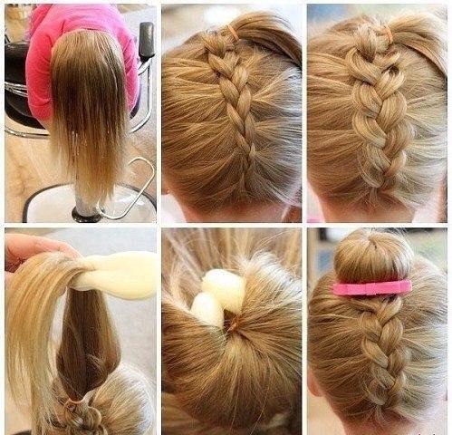 Цікаві зачіски для дівчаток у школу
