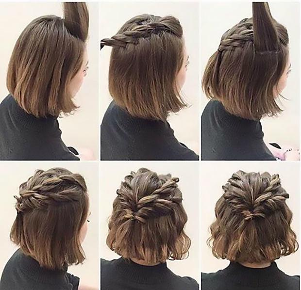 Зачіски на коротке волосся на 1 вересня для дівчаток