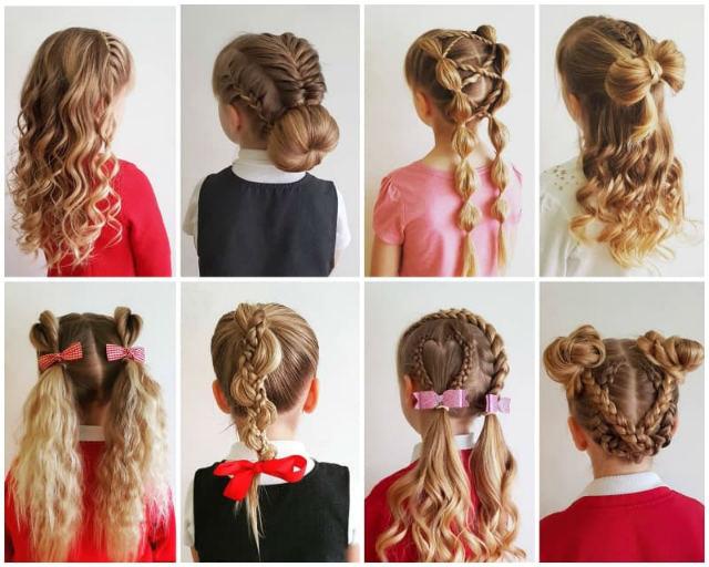 8 варіантів зачісок для дівчаток у школу