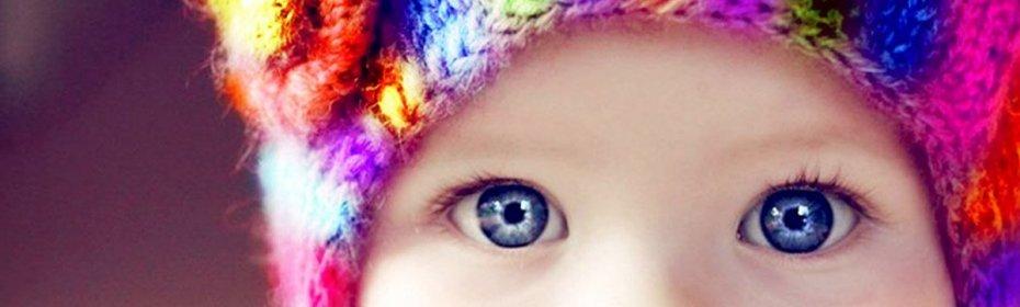 Зір у новонародженого: коли змінюється колір очей