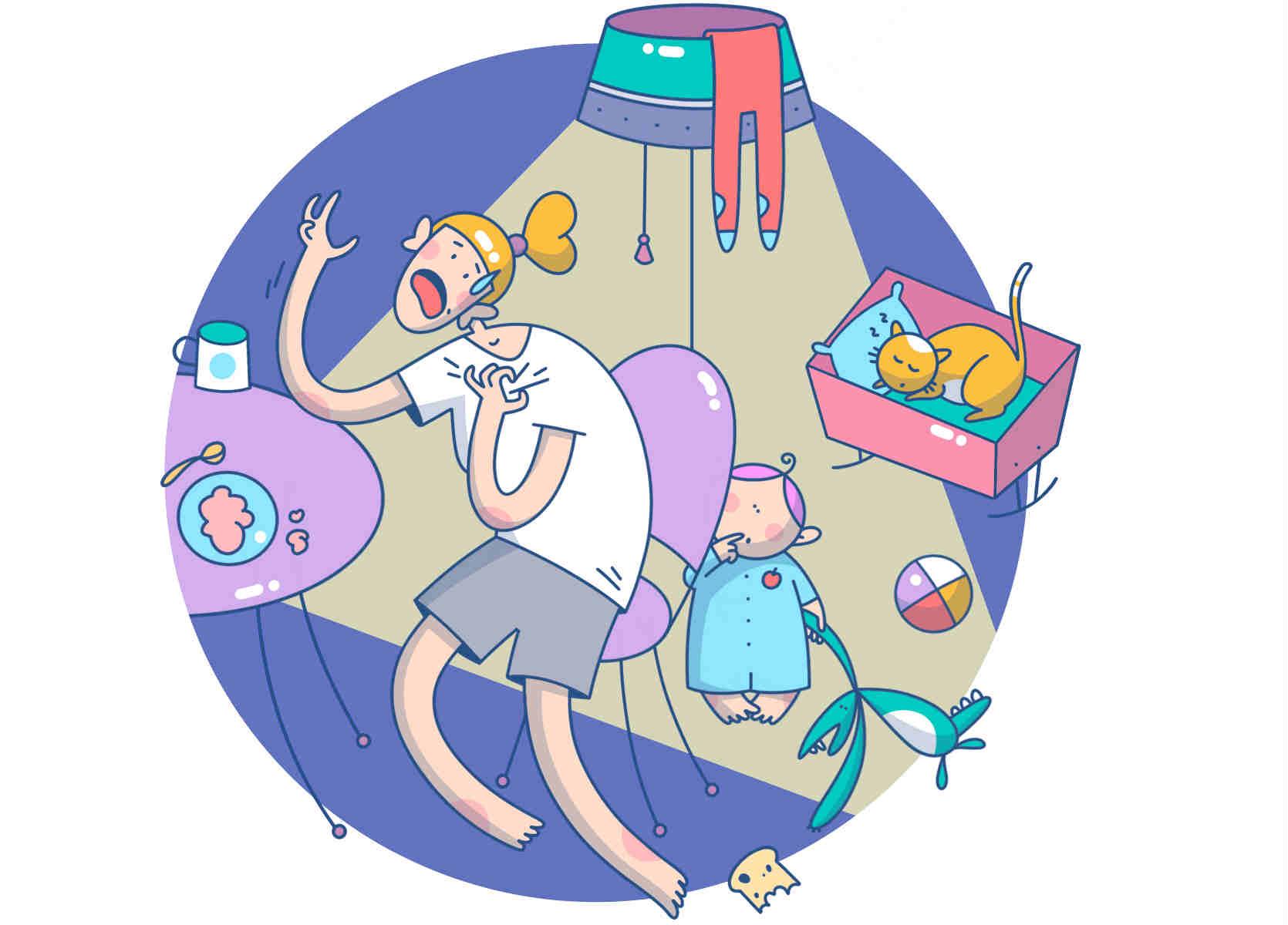 Материнство це... іллюстрації та картинки меми