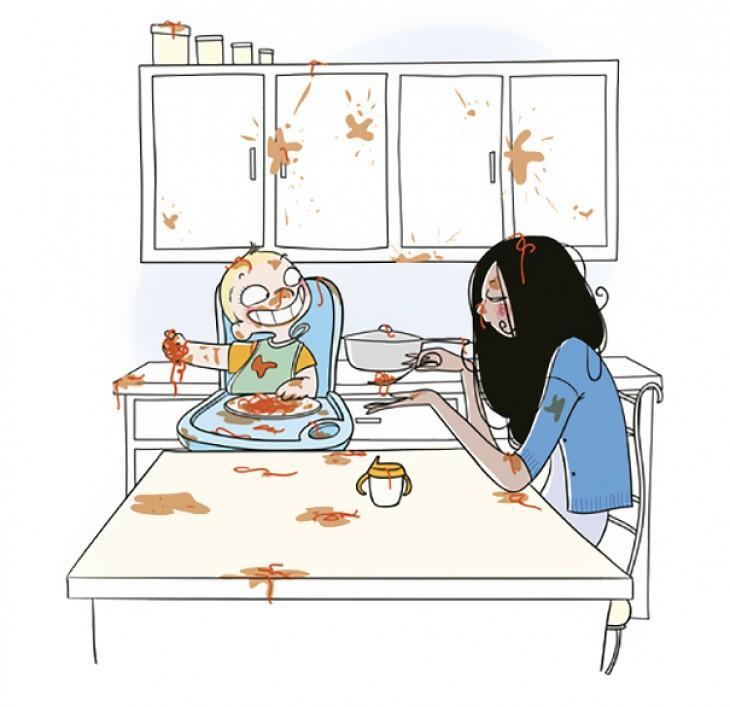 дитина розкидає їжу та плюється
